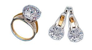 Серебро 925 проба с золотом наборы (серьги + кольцо)