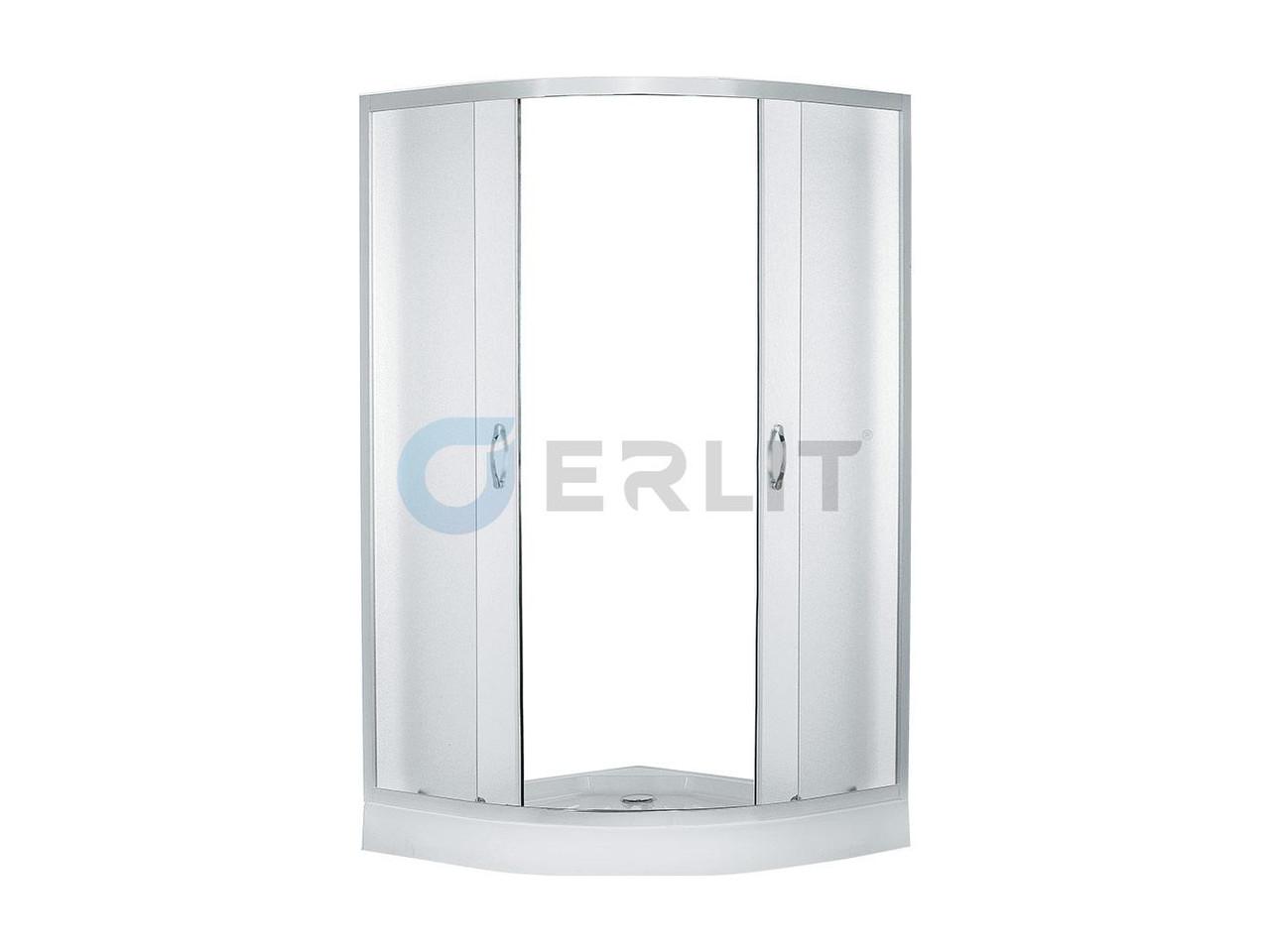 Душевой уголок Erlit EER0508 - C3 800*800*1940 низкий поддон, светлое стекло