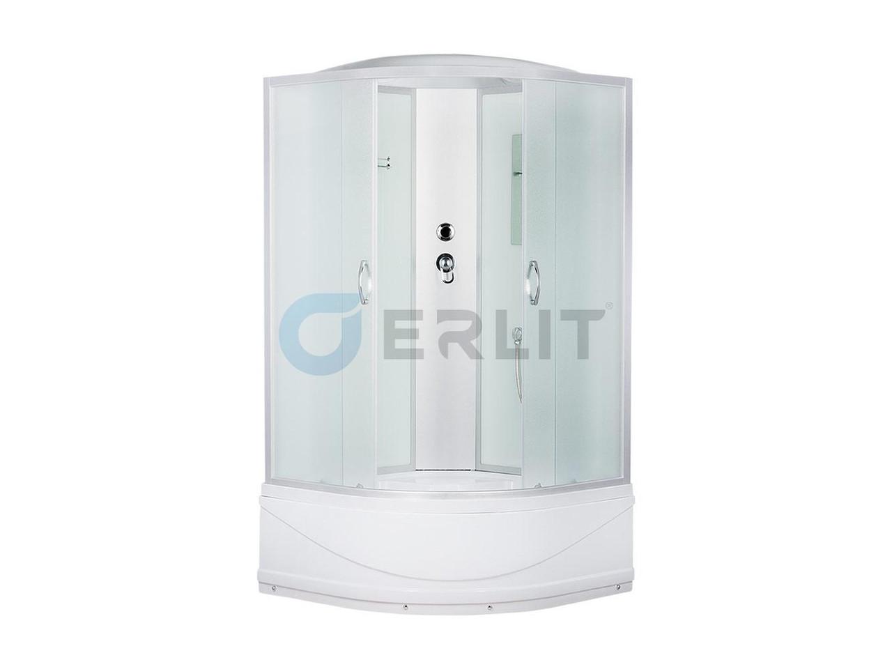 Душевая кабина Erlit  ER3508TP - C3 800*800*2150 высокий поддон, светлое стекло