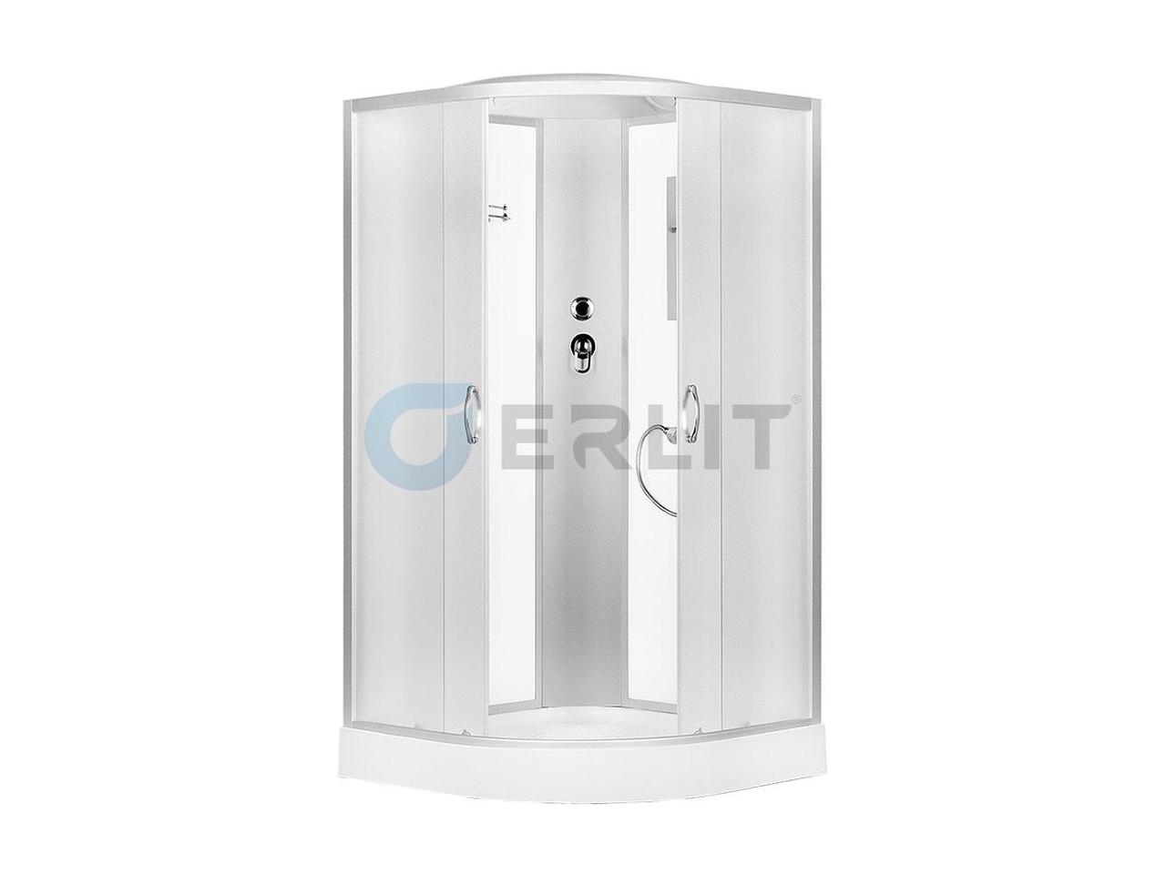 Душевая кабина Erlit  ER3508P - C3 800*800*2150 высокий поддон, светлое стекло