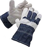 Перчатки спилковые утепленные GS
