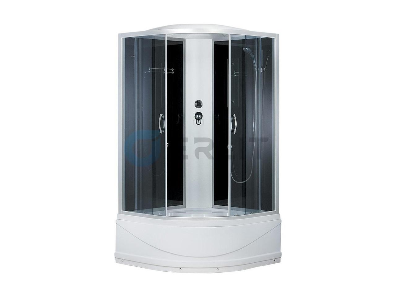 Душевая кабина Erlit ER3510TP - C4 1000*1000*2150 высокий (СЕРЫЙ) поддон, тонированное стекло