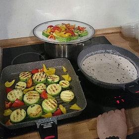 Сковорода гриль с камменым покрытием  Nice cooker 28х28' (BL)  / (GR), 2,2 литра http://nicecooker.kz/p42552112-skovoroda-gril-kamennym.html