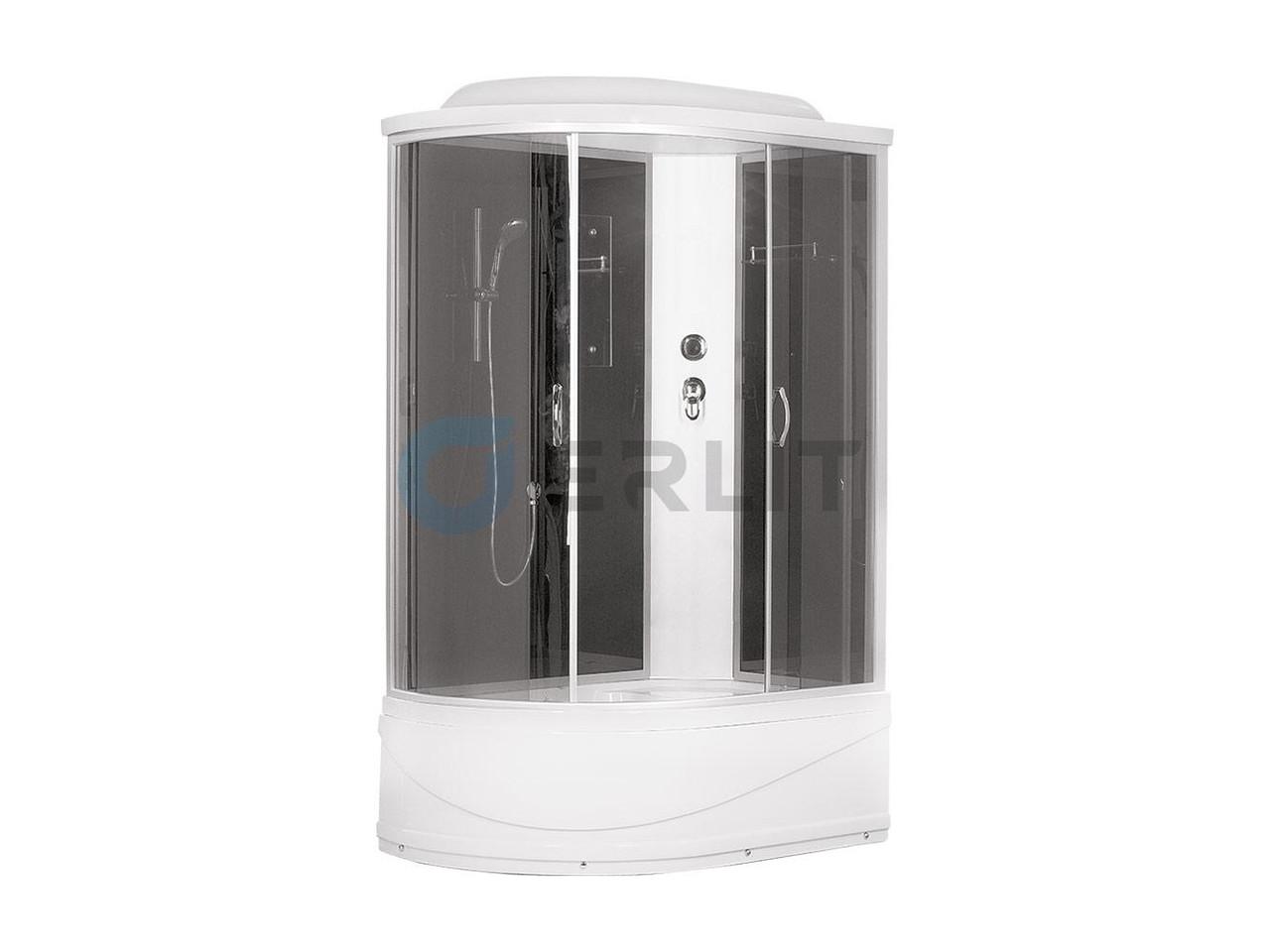 Душевая кабина Erlit ER3512TPR-C4 1200*800*2150 высокий (СЕРЫЙ) поддон, тонированое стекло