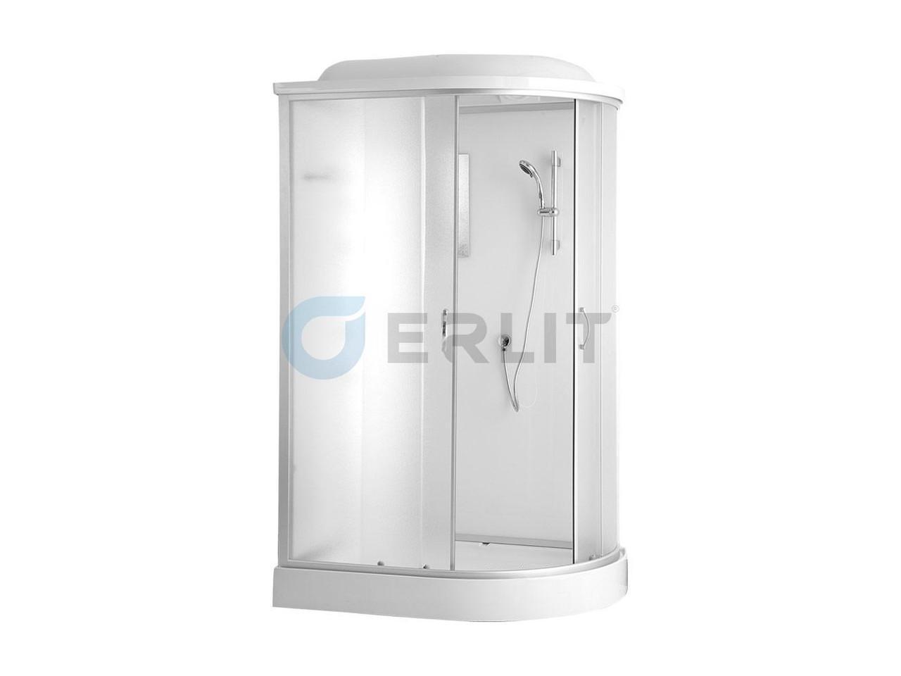 Душевая кабина Erlit  ER4512PL-C3 1200*800*2150 низкий поддон, светлое стекло, левосторонняя