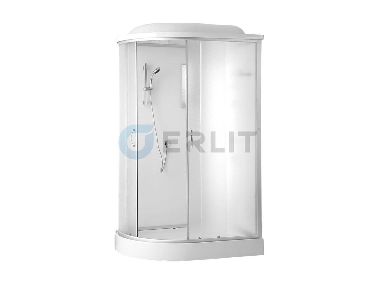 Душевая кабина Erlit  ER4512PR-C3 1200*800*2150 низкий поддон, светлое стекло, правосторонняя
