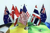 Флаг настольный на габардине, фото 1