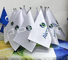 Флаг настольный на атласе