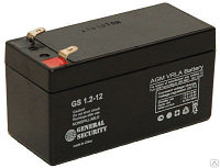 Аккумулятор GS 1.2-12 12В 1,2Ач, 97х48,5х50,5