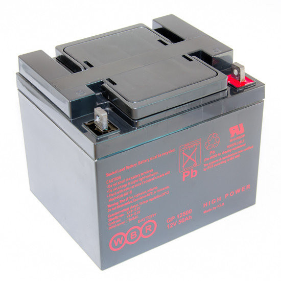 Аккумулятор GP 12500 12В 50Ач, 198х166х171