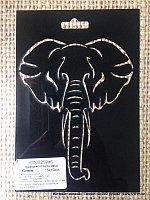 Трафарет пластиковый Голова Слона резная, для творчества (размер 10*15см.)