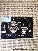 Трафарет Tea Time (чайник, кружка, ложка для рукоделия, размер 10*15см.)