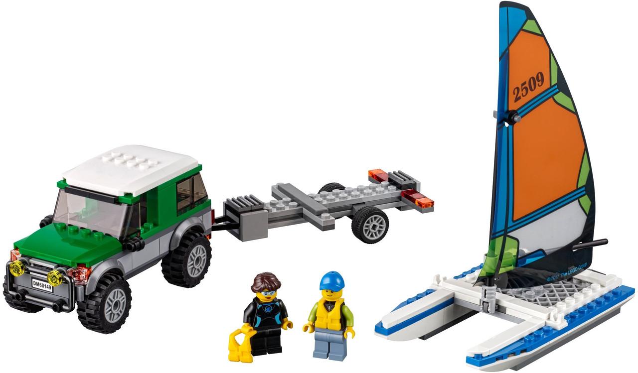 LEGO Город 60149 Внедорожник с прицепом для катамарана
