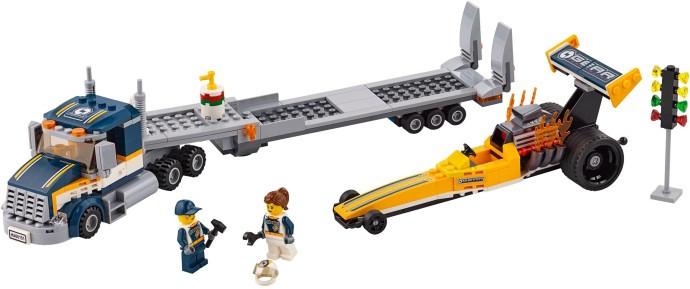 LEGO Город 60151 Грузовик для перевозки драгстера