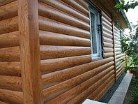 """Металлический сайдинг """"Блокхаус"""" имитация деревянного сруба"""