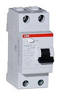 2CSF202004R1630 Выключатель дифференциального тока  УЗО ABB 2 полюса FH202 AC-63 А, 30 мА