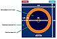 Ковер борцовский трехцветный 12 х 12 м + маты 5см ППЭ Новый стандарт, фото 3