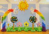 Выпускной утренник в детском саду, оформление, фото 2