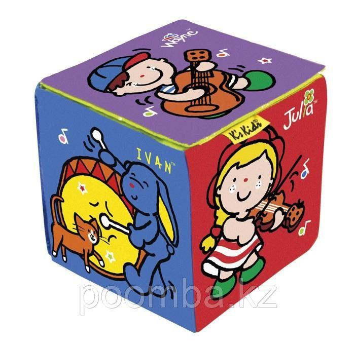 """Мягкая игрушка """"Музыкальный развивающий кубик"""" (3 режима)"""