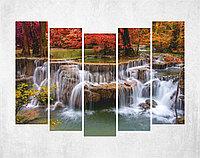 Модульная картина на холсте - парк Цзючжайгоу, Китай