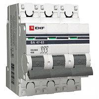 Автоматический выключатель ВА 47-63, 3P 50А (C) 4,5kA EKF PROxima