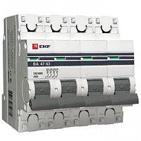 Автоматический выключатель ВА 47-63, 4Р 16,25,32,40,50,63А (C) 4,5kA EKF PROxima