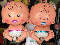 Фольгированный шар Малыш Мальчик Девочка 90 см в Павлодаре, фото 1