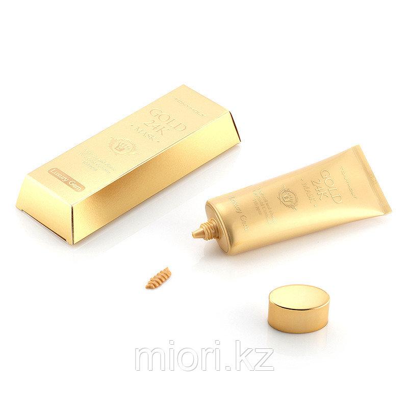 Омолаживающая маска с коллоидным золотом и экстрактом муцина улитки Tonymoly Luxury Gem Gold 24K Mask,100мл