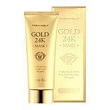 Омолаживающая маска с коллоидным золотом и экстрактом муцина улитки Tonymoly Luxury Gem Gold 24K Mask,100мл, фото 2