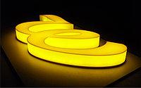 Объемные буквы со светящимися лицевой и боковой поверхностями