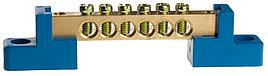 Шина СВЕТОЗАР нулевая на 2-х угловых изоляторах, макс. ток 100А, 5, 2мм, 8 полюсов 2