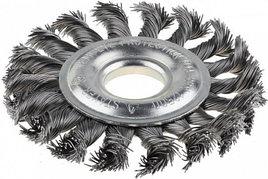 Щетка STAYER дисковая для УШМ, сплет в пучки стальн зак провол 0, 5мм, 200мм/22мм