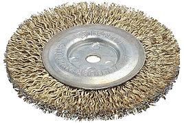 Щетка дисковая, стальная, 8мм / 100мм