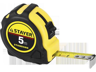 """Рулетка STAYER """"STANDARD"""" """"TopTape"""", обрезиненный корпус, 10х25мм"""