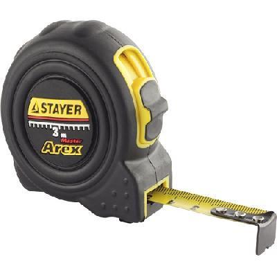 """Рулетка STAYER """"PROFI"""" """"AREX"""", двухкомпонентный противоударный корпус, упрочненное полотно, 5м/19мм"""