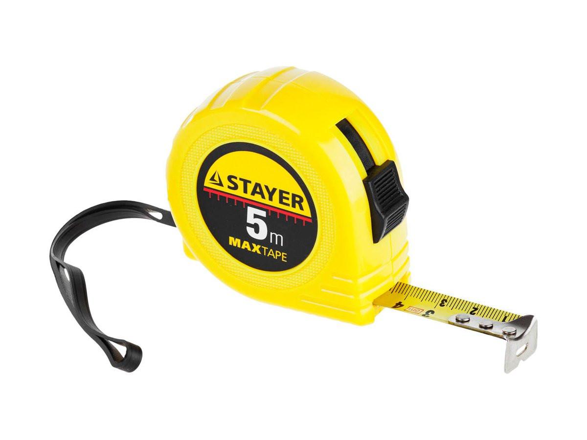 "Рулетка STAYER ""МASTER"" ""MaxTape"", пластиковый корпус, 5м/19мм"