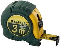 """Рулетка KRAFTOOL """"EXPERT"""" с нейлоновым покрытием, обрезин корпус, 3/19мм"""