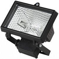 Прожектор галогеновый СВЕТОЗАР с дугой крепления под установку, цвет черный, 1000Вт