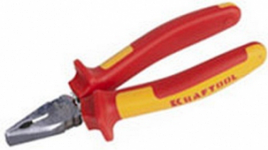 """Плоскогубцы KRAFTOOL """"ELECTRO-KRAFT"""", Cr-Mo сталь, двухкомпонентная рукоятка, хромированное покрытие, 180мм"""