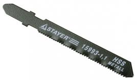 "Пилки STAYER ""PROFI"" для эл/лобзика, HSS, по металлу (0, 5-1, 5мм), EU-хвост., шаг 1, 1мм, 50мм, 2шт"