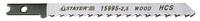 """Пилки STAYER """"PROFI"""" для эл/лобзика, HCS, по дереву, US-хвост., шаг 4мм, 100мм, 3шт"""