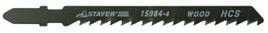 "Пилки STAYER ""PROFI"" для эл/лобзика, HCS, по дереву, прямой рез, EU-хвост., шаг 4мм, 75мм, 2шт"