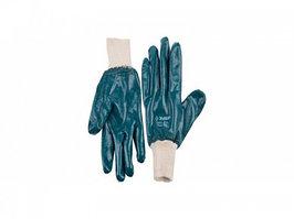 """Перчатки ЗУБР """"МАСТЕР"""" рабочие с манжетой, с полным нитриловым покрытием, размер L (9)"""