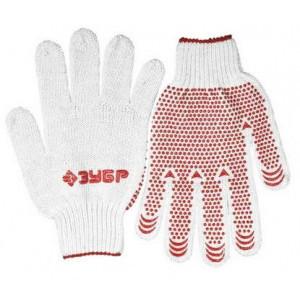 """Перчатки ЗУБР """"МAСTEP"""" трикотажные, 7 класс, х/б, с защитой от скольжения, S-M"""