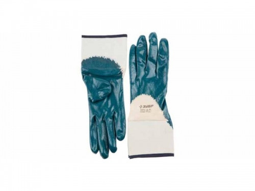 """Перчатки ЗУБР """"МАСТЕР"""" рабочие с нитриловым покрытием ладони, размер M (8)"""