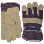 """Перчатки STAYER """"MASTER"""" рабочие комбинированные кожаные из спилка с тиснением, XL"""