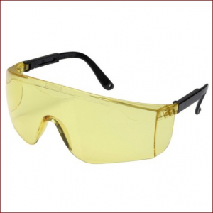 Очки STAYER защитные с регулируемыми дужками, желтые