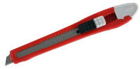 Нож ЗУБР с сегментированным лезвием, корпус из AБС пластика, сдвижной фиксатор, сталь У8А, 9мм