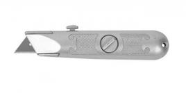 """Нож ЗУБР """"МАСТЕР"""" с трапециевидным лезвием тип А24, метал. корпус, выдвижное лезвие с автоматической фиксацией"""