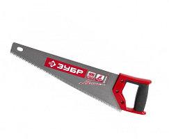 """Ножовка ЗУБР """"МАСТЕР"""" МОЛНИЯ по дереву, крупный зуб, двухкомпонентная ручка, шаг зуба 5мм, 450мм"""